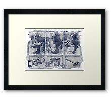 Vigilante Blueprint Framed Print