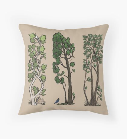 Five Trees/Summer Throw Pillow