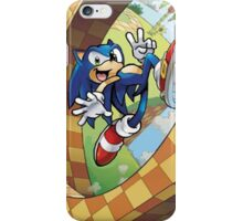 sonic on the run iPhone Case/Skin