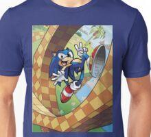 sonic on the run Unisex T-Shirt