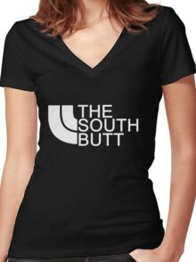 The South Butt Women's Fitted V-Neck T-Shirt