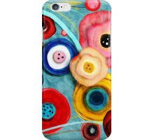 Turquoise Wedding Paper Flowers Bouquet iPhone Case/Skin