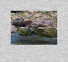 Asian Otters at Escot. Devon UK Unisex T-Shirt