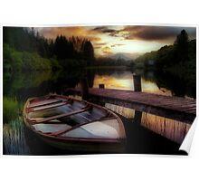Summer's Sunset,Loch Ard Poster