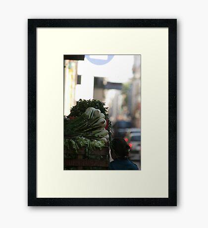 Vegetable shopping Framed Print