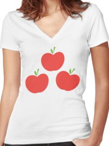 Applejack Cutie Mark Women's Fitted V-Neck T-Shirt