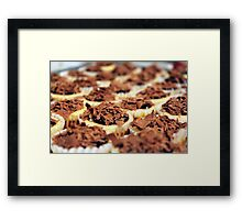 Mini Chocolate Cheesecakes Framed Print