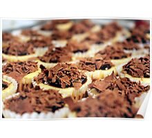 Mini Chocolate Cheesecakes Poster