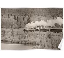 Old Steam Locomotive #2816 Poster