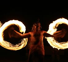 Fire Dancer, Fiji by J Forsyth