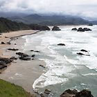 Cannon Beach from Ecola Park OR by Jeanne Kinninmont