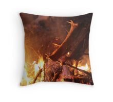 ice fishing catch and cook Throw Pillow