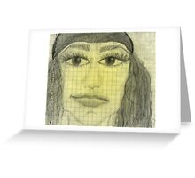 girl portrait Greeting Card