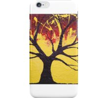 Dream Tree in yellow wall art Original print painting decor art starry night tree of life iPhone Case/Skin