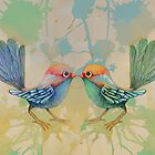 little love birds blue by © Karin (Cassidy) Taylor