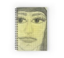 girl portrait Spiral Notebook
