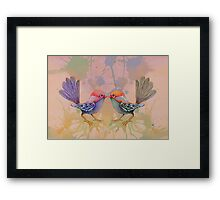 little love birds pink Framed Print