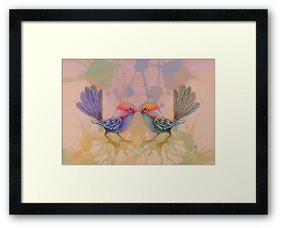 little love birds pink by © Karin Taylor