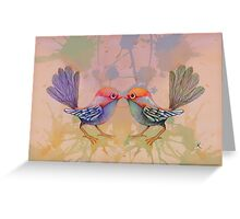 little love birds pink Greeting Card