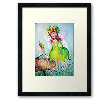 Fairy and friend Framed Print