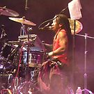 Purple Haze Drummer by Sandra Gray