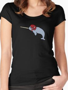 Roller Derby Narwhal Women's Fitted Scoop T-Shirt
