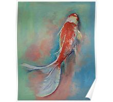 Pearl Banded Koi Poster