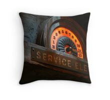 SERVICE ELEVATOR Throw Pillow