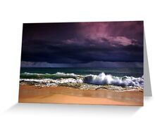Thundering sky Greeting Card