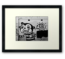 A Lost Message - Graffiti Framed Print