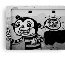 A Lost Message - Graffiti Canvas Print