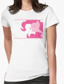 Pinkie Pie silhouette Womens Fitted T-Shirt