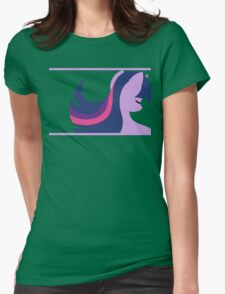 Twilightsparkle silhouette Womens Fitted T-Shirt