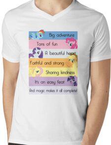 Friendship Is Magic Mens V-Neck T-Shirt