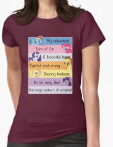 Friendship Is Magic Womens Fitted T-Shirt