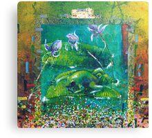 Broken Camouflage, Frog Domain. Canvas Print