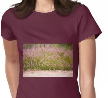 Bunches of pink heather flowering Womens Fitted T-Shirt