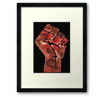 Black Power Fist Framed Print
