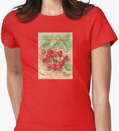 Strawberries Womens Fitted T-Shirt