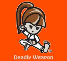 Martial Arts/Karate Girl - Deadly Weapon (gray font) Kids Clothes