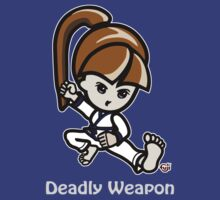 Martial Arts/Karate Girl - Deadly Weapon (gray font) by fujiapple
