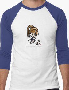 Martial Arts/Karate Girl - Deadly Weapon (gray font) Men's Baseball ¾ T-Shirt