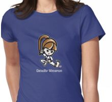 Martial Arts/Karate Girl - Deadly Weapon (gray font) Womens Fitted T-Shirt