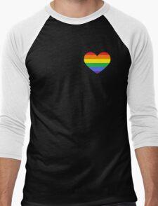 Gay Heart (B) Men's Baseball ¾ T-Shirt