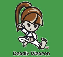 Martial Arts/Karate Girl - Deadly Weapon One Piece - Short Sleeve