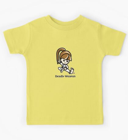 Martial Arts/Karate Girl - Deadly Weapon Kids Tee