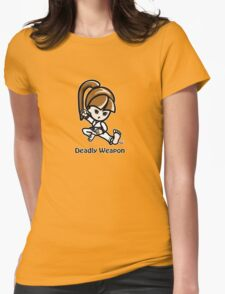 Martial Arts/Karate Girl - Deadly Weapon Womens Fitted T-Shirt