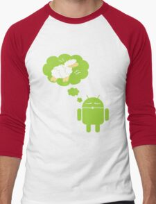 DROID Dreaming of an Electric Sheep Men's Baseball ¾ T-Shirt
