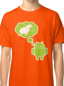 DROID Dreaming of an Electric Sheep (iron-on look) Classic T-Shirt