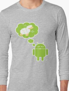 DROID Dreaming of an Electric Sheep (iron-on look) Long Sleeve T-Shirt